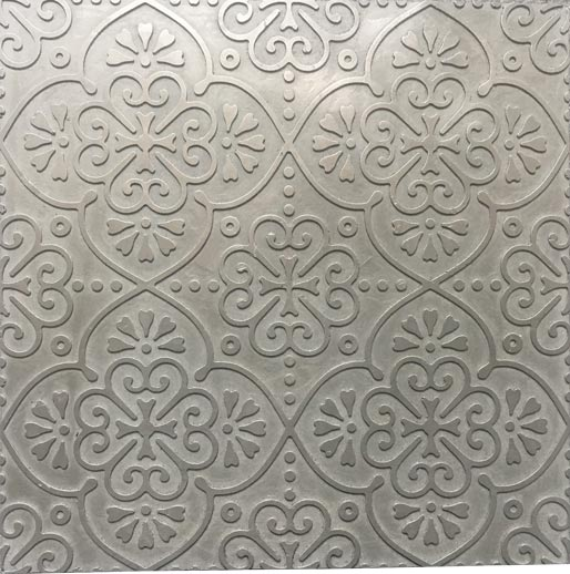 BOHO One wall tile in Silver, by Hazell & Gray